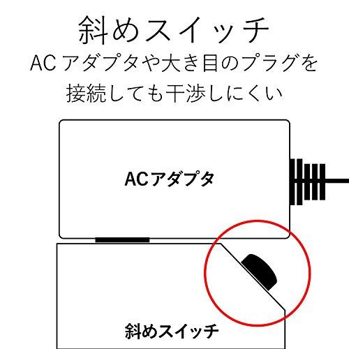 『エレコム 電源タップ 雷ガード 個別スイッチ ほこりシャッター付 6個口 2.5m ブラック T-K6A-2625BK』の7枚目の画像