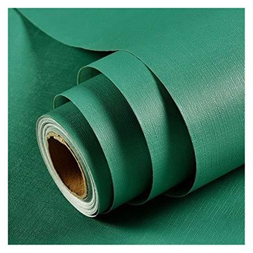 WHYBH HYCSP Reine Farbe grau Tapete selbstklebend einfache Warmer Schlafsaal Schlafzimmerdekoration Garderobe Schreibtisch wasserdicht Aufkleber (Color : Green, Size : 3mx60cm)