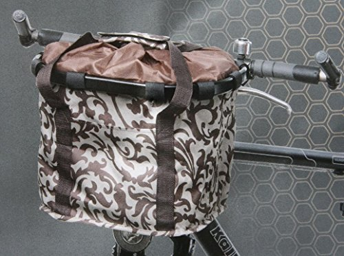 Speq pieghevoli cestino cesto borsa da bicicletta bicicletta manubrio per bicicletta manubrio tasche 35X 25X 26Nuovo
