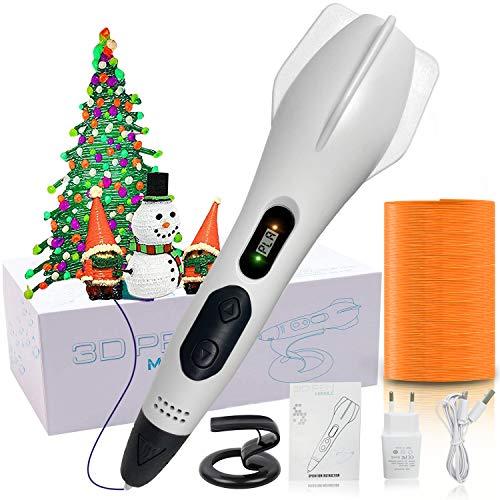 Top 3D Stift, intelligenter 3D-Druckstift mit Filament in 18 Farben, automatische Umschaltung mit 6 Geschwindigkeiten, kompatibel mit PLA- und ABS-Kunststoff, Weihnachtsgeschenk für Kinder