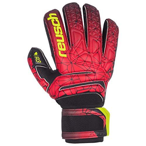 Reusch Herren Fit Control R3 Finger Support Torwarthandschuhe, Black/fire red, 10.5