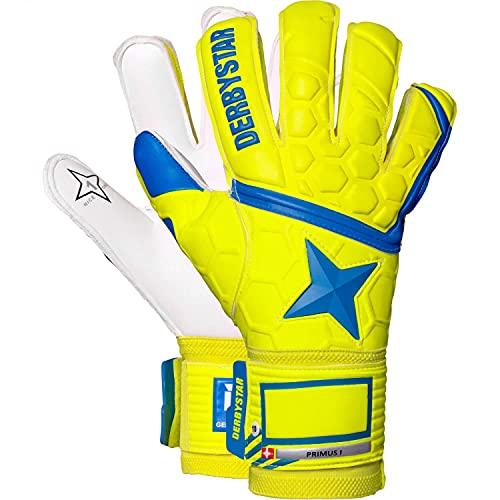 Derbystar Kinder Primus I Handschuhe, gelb blau, 5