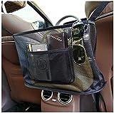 Car Net Pocket Handbag Holder, Seat Back Organizer Mesh Large Capacity Bag for Purse Storage Documents Pocket, Barrier of Backseat Pet Kids(Black)