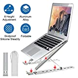 Laptop Stand, Laptop Riser Computer Holder, Foldable Support Stand Desktop Holder for MacBook Pro Air, Adjustable Height Aluminum Notebook Holder Stand for iPad, Lenovo, Dell, More 10-15.6 Inches