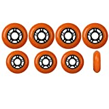Player's Choice Outdoor Inline Skate Wheels 89a - Choose Size, Color, and Bearings (Orange, 80mm 8-Pk, ABEC 9 Bearings)