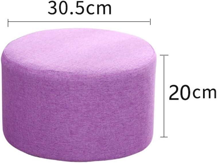 Tabouret à Langer Rond en Plastique en Tissu, Chaise naine empilable Multifonction avec 4 Petites Jambes, pour Enfants Adultes au Bureau à Domicile Occasionnel (2 pièces) B-4 A-6