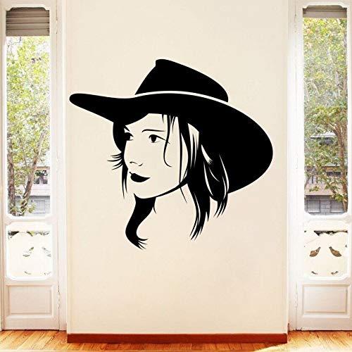 yaonuli Huisdecoratie vrouwelijke portret muur sticker raamdecoratie muurstickers familie muurschildering vinyl verwijderbare muur