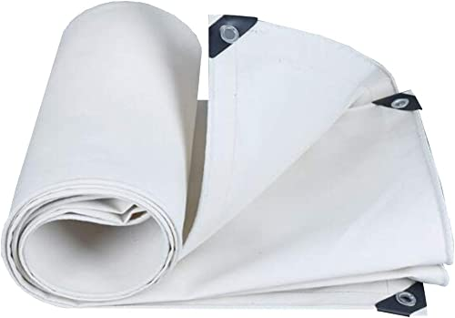 MuMa Bache Blanc épaissir Imperméable Crème Solaire Imperméable Ombre Isolation Toile (Couleur   Blanc, Taille   2  4M)