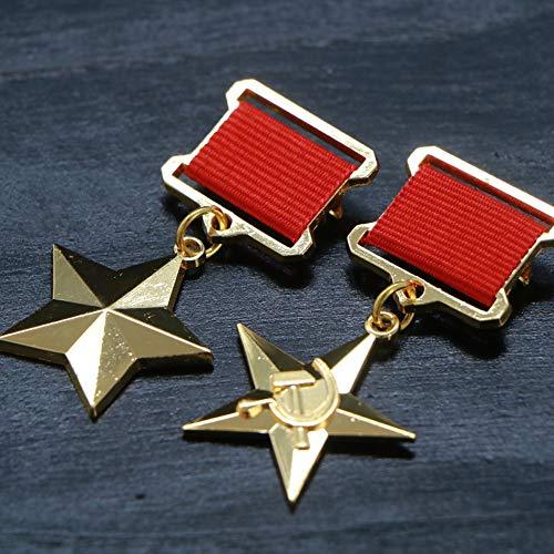Rusia,la Segunda Guerra Mundial,la Unión Soviética,Socialista,Héroe de la Mano de Obra,Medalla,Venus Medalla de la Mano de Obra,el Honor,Oro,Colección,2Pcs Moneda de Decisión/dorado / 2pcs