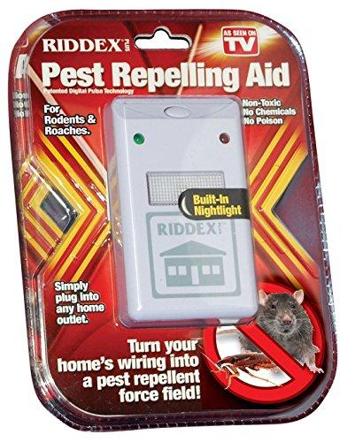 RIDDEX Repelente DE Insectos Ratones CUCARACHAS Hormigas Plus Ahuyentador electrónico electromagnético con ultrasonidos