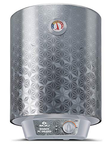 Bajaj Shakti PC Deluxe Storage 25 LTR Vertical Water Heater, Silver, 3 Star