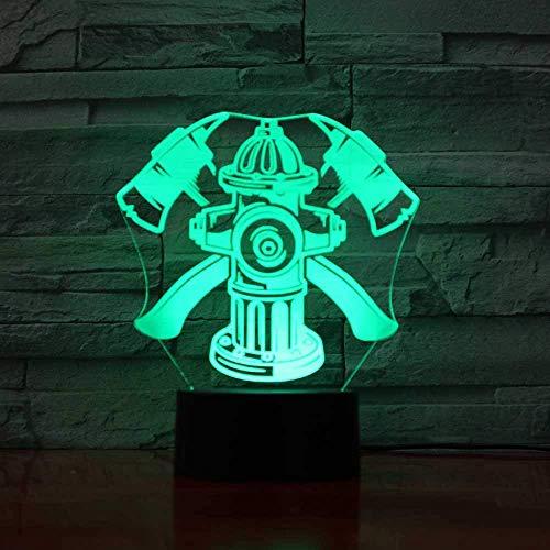 Visual LED kinderen touch-knop touch-schakelaar 3D nachtlampje USB-aansteker slaapkamerlamp slaapkamerlamp slaapkamerlamp