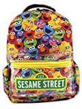 Sesame Street Gang Elmo Boys Girls Toddler 16 inch School Backpack (One Size, Multicolor)