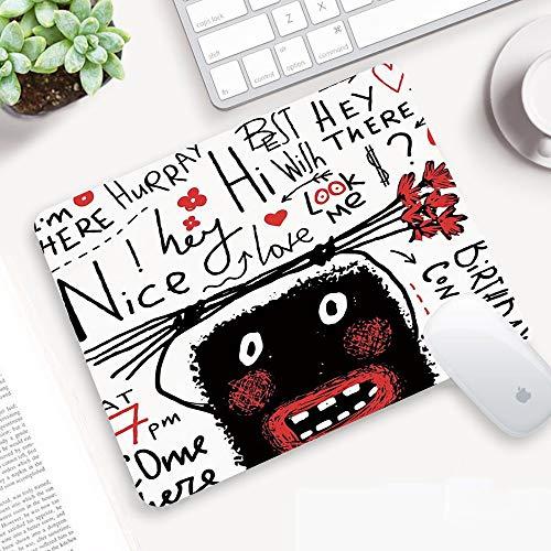 Gaming Mauspad,Quirky Dekor, Doodle hässliche Monster-Holding-Blumenstrauß Geburts,Abwischbar Matte Multifunktionales Office rutschfeste Gaming Matte für Computer, PC und Professionelle Gamer320x250mm