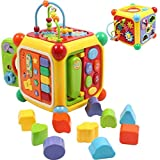 Galaxy Hi-Tech® Baby Toddler Activity Cube with Musical Phone, Play Learning Center Toy 6 in 1 Interactive Educational Activity Multi-Functions, Skill Improvement Early Learning Game Toys