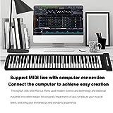 Teclado de piano, enrollable portátil 61 teclas Piano USB Piano electrónico portátil Piano enrollable Ligero para grabar y editar su música