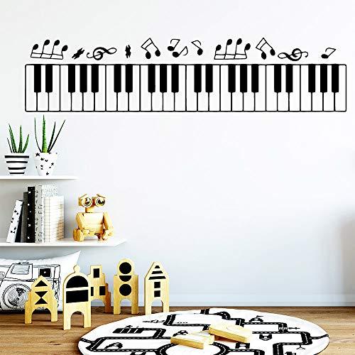 TYLPK Freies verschiffen tastatur musik Wandaufkleber Selbstklebende Kunst Tapete Pvc Wandtattoos Dekoration Zubehör