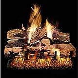 Peterson Real Fyre 18-inch Split Oak Designer Plus Log Set With Vented Natural Gas G45 Bur...