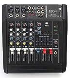 MIXER AMPLIFICATO DJ ATTIVO 5 CH. 600W LIVE EFFETTI + USB + PREASCOLTO
