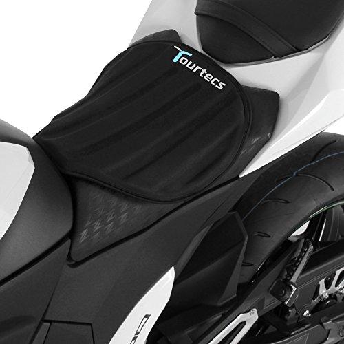 Tourtecs - Motorrad Sitzauflage für Gel Pad Sitzbank Gelkissen Neopren M Schwarz Komfortkissen Motorrad