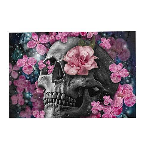 Puzzle mit Totenköpfen und Blumen, für Erwachsene, 500 Teile