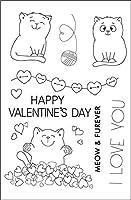 11x163匹の子猫透明なクリアスタンプDIYスクラップブッキングフォトアルバムカード作成用シリコンシール
