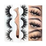 3 Styles False Eyelashes Synthetic Fiber...