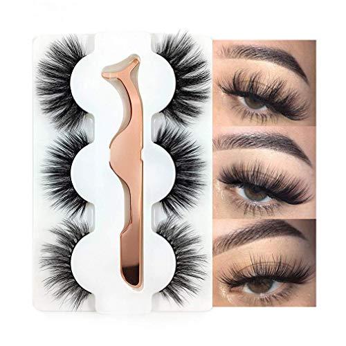3 Styles False Eyelashes Synthetic Fiber Material...