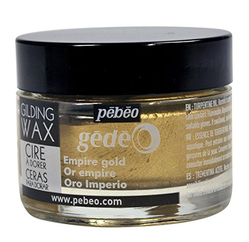 pebeo Gédéo Vergoldung 30ml, Wachs, Empire Gold, 5,5x 5,5x 4,5cm