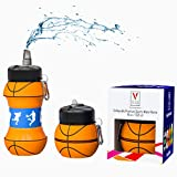 V&I Kids Sports Collapsible Water Bottle