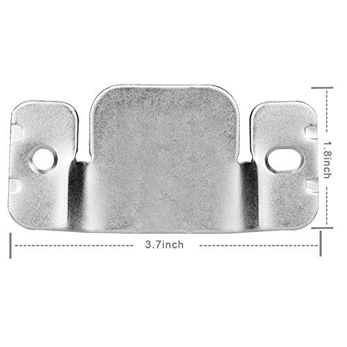 Mudder Universal Sectional Sofa Interlocking Sofa Connector Bracket with Screws, 4 Pieces