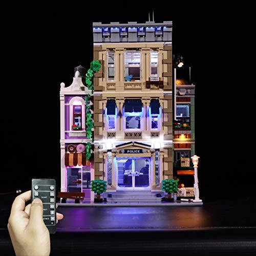 Seasy Juego de iluminación para Lego Police Station 10278, juego de iluminación LED compatible con la estación de policía Lego 10278 (sin set Lego)