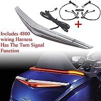 ホンダゴールデンウィングDCTエアバッグGL180020192018-20202201新しいオートバイトランクターンシグナルLEDブレーキライトクロームとブラック