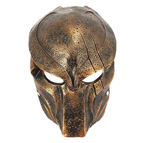 Resin Predator Falconer Costume Adult Mask Replica (Copper)
