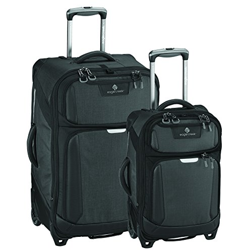New Eagle Creek Tarmac Luggage Set (22 Inch Carry-On + 29 Inch Checked), Asphalt Black