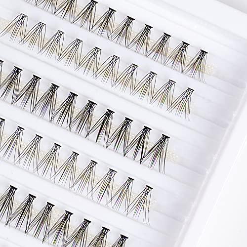 LANKIZ Wimpern Einzeln für Wimpernverlängerung ,10D+20D Mix Fake Individual Lashes,Wimpernbüschel Cluster-Wimpern, Individuelle Falsche Wimpern