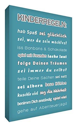 Little Helper KR1216-07G Feel Good Art Tableau sur toile avec citations en langue allemande \