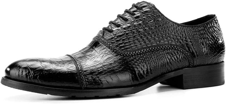 KTYXGKL Chaussures habillées pour Hommes à la Mode avec la première Couche de Souliers Pointus en Cuir pour Hommes en Cuir 38 à 44 Verges Bottes en Cuir pour Hommes (Couleur   noir, Taille   38)