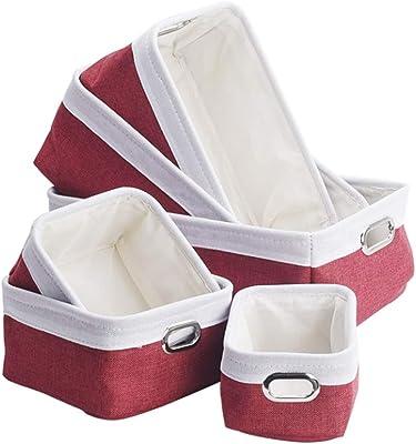 ZXMMDT LYX Storage Basket, Six Packs Storage Box Cloth Foldable Storage Basket Clothes Storage Box