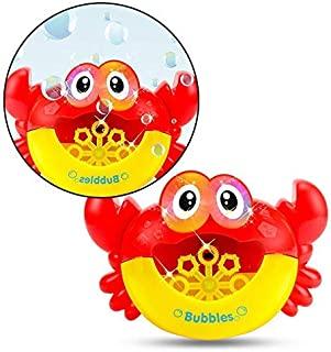 Baby Bath Bubble Machine, Lesgos Crab Automatic Bubble Maker With 12 Music Baby Fun Shower Toys For Kids, Boys, Girls