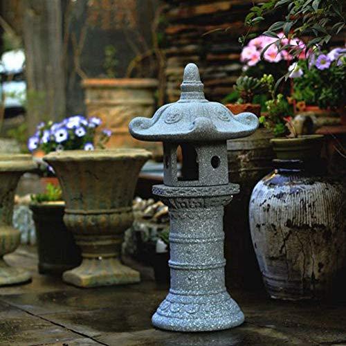 FACAZ Gran Pagoda Zen Linterna asiática Decoración de jardín Estatua Torre Arte asiático al Aire Libre Escultura de césped Oriental Estatua de Piedra para el hogar, decoración al Aire Libre