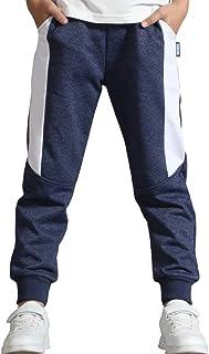 BINPAW Pantalones deportivos de algodón para niños de 4 a 14 años (4 a 14 años)