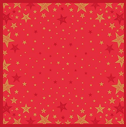 Duni Mitteldecke Shining Star Red 84 x 84 cm