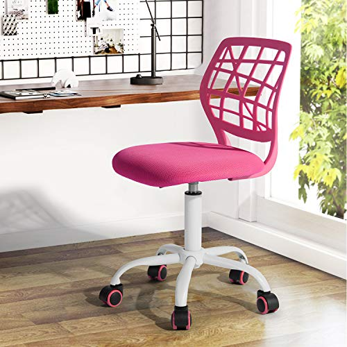 Homy Casa Store Home Office Ergonomic Desk Swivel Rolling Computer Executive Chair, Pink