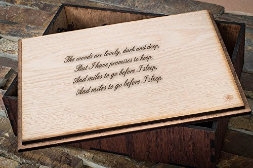 Personalized Wooden Gift Boxes, Custom Engraved Husband Gift Box, Custom Wooden Gift Box, Personalized Groomsmen Gift Box - Large Cigar Box (Outside + Inside)