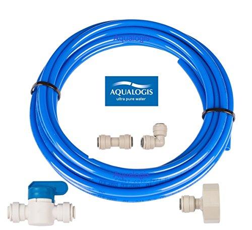 Aqualogis kit de tuyau d'alimentation Eau universel 5 pour réfrigérateurs Style américain Samsung LG Daewoo Beko