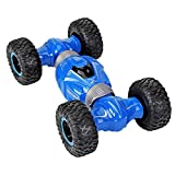 YFWJD Kinder 4WD Klettern SUV 1:16 Kreative Stunt Double-Sided Flip Transformable Toy Car,Blau -