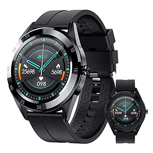 BNMY Smartwatch Hombres Relojes Inteligentes Bluetooth Recibe Llamadas,Fitness Smartwatch 1.54'' De Reloj Deportivo con Podómetro para Android iOS Ronda,Negro
