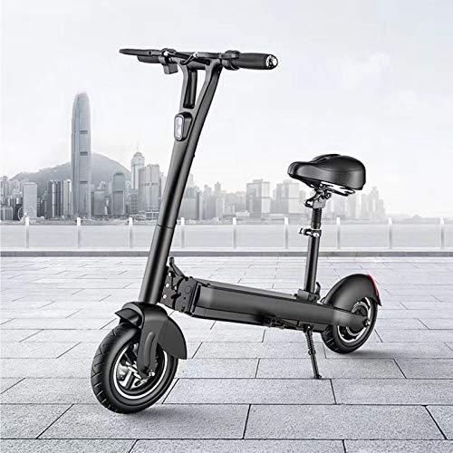 QWET El Mini Scooter EléCtrico Se Puede Plegar, 48V70Km DuracióN De La BateríA 500W Motor LCD Bicicleta EléCtrica, con Sistema Antirrobo,Negro