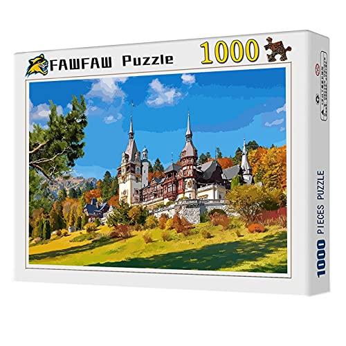 FAWFAW Puzzle De 1000 Piezas, Castillo De Peles, Rumania